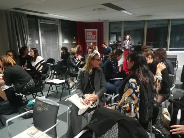 photo des participants à la soirée de présentation des résultats de l'étude sur la communication interne