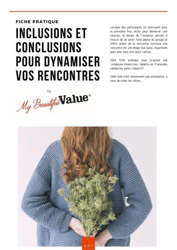 couverture fiche pratique inclusion et conclusion à télécharger sur site My Beautiful Value