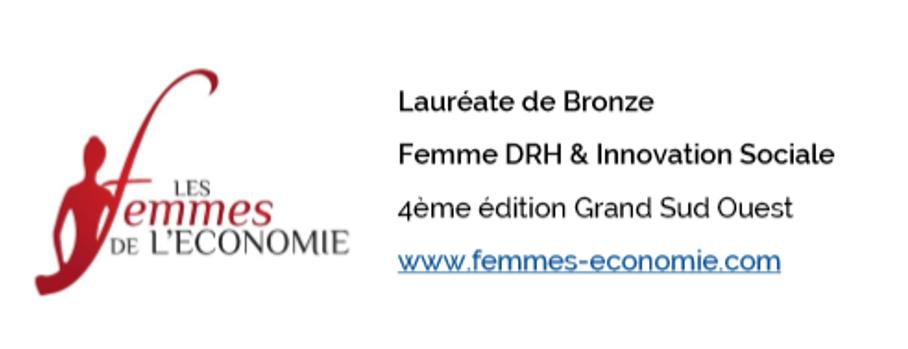 signatures femmes de l'économie Marina Bellouin volant laureate de bronze catégorie RH et innovation sociale