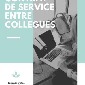 Contrat de service entre collègues