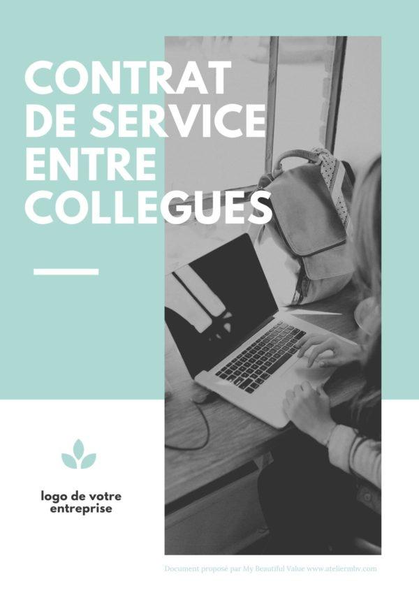 couverture d'un modèle de contrat de service proposé en téléchargement gratuit