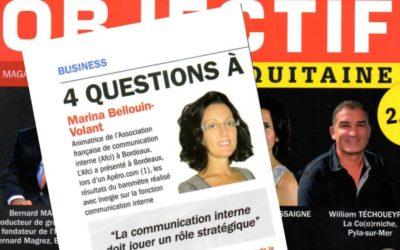La communication interne doit jouer un rôle stratégique (Objectif Aquitaine 11/12)