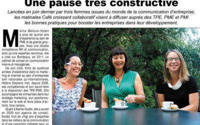 Une pause très constructive (courrier français de Gironde)
