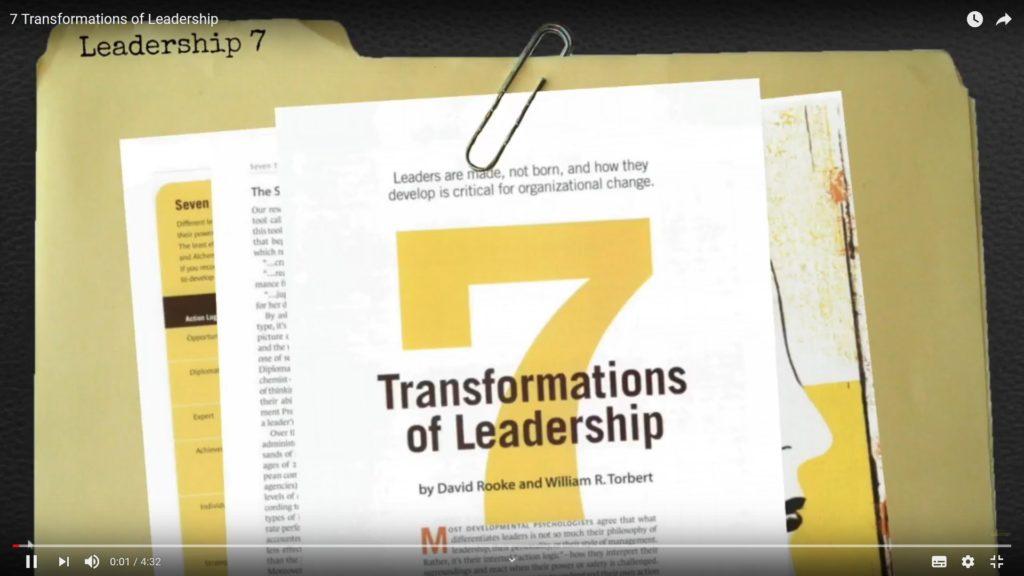 image d'ouvertrue de la vidéo de présentation des 7 styles de leadership