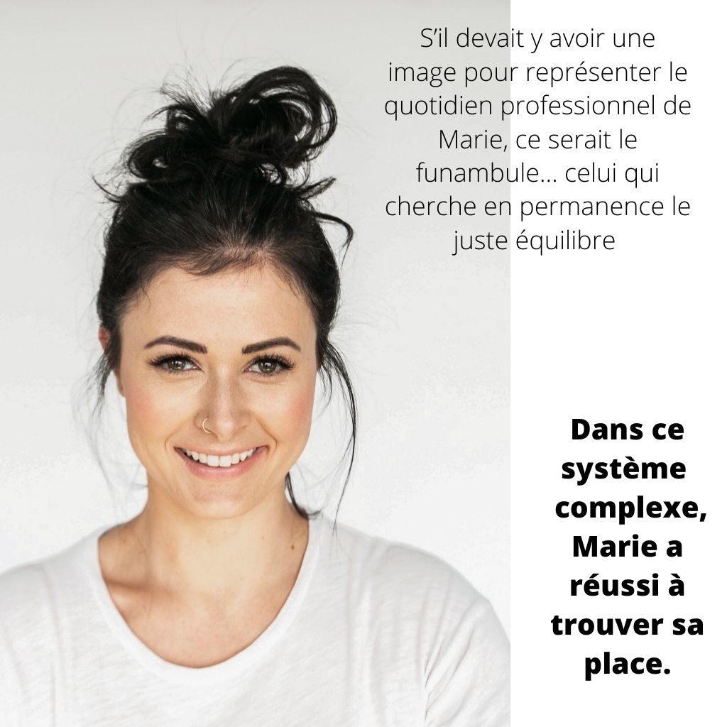 Dans ce système complexe, Marie a réussi à trouver sa place.
