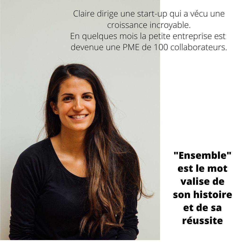 claire dirige une start up qui a vécu une croissance incroyable, elle cherche ses valeurs