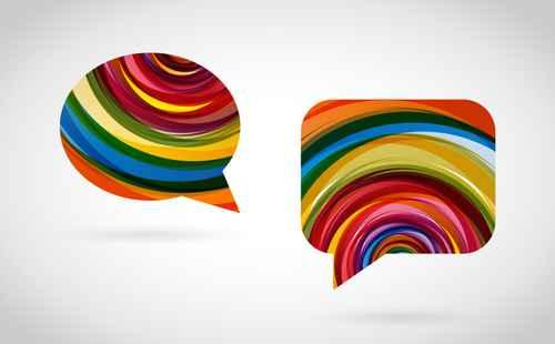bulles de dialogue colorées